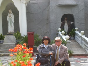 in a grotto adjacent to the Catholic Church in Bu Zhen, Chong Ming